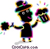 celebrating on St. Patrick's day Vector Clip Art graphic