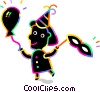 Vector Clipart graphic  of a Girl celebrating a birthday