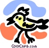 Vector Clipart picture  of a Baby chick