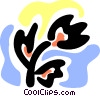 Vector Clip Art image  of a Colorful tulip