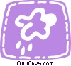 Vector Clipart illustration  of a Rain clouds