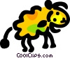 Vector Clipart illustration  of a Sheep walking