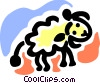 Vector Clip Art picture  of a Sheep walking