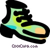 Vector Clip Art graphic  of a Work boot