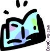 Open book Vector Clip Art image