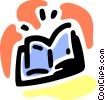 Open book Vector Clip Art graphic