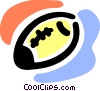 Vector Clip Art image  of an American football