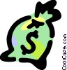 Vector Clip Art image  of a Money bag