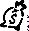 Vector Clip Art picture  of a Money bag