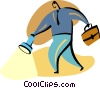 Vector Clipart graphic  of a man with briefcase and