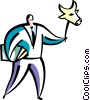 Vector Clip Art picture  of a bull stock market mask