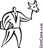 Vector Clip Art graphic  of a bull stock market mask