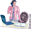 Vector Clipart picture  of a Businesswomen