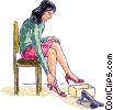 Vector Clip Art graphic  of a Misc Women