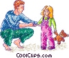 Father daughter Vector Clipart picture