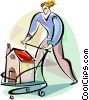 Man shopping for a new home Vector Clip Art image