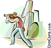 Vector Clip Art graphic  of a Videographers