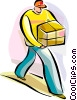 Vector Clipart image  of a Courier Services