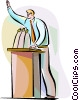 Businessman giving a speech Vector Clipart picture