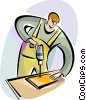 Vector Clip Art picture  of a Trades People