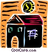 Vector Clip Art image  of a Putting money into your house