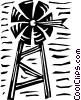 Vector Clipart graphic  of a Farm windmill