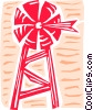 Vector Clip Art image  of a Farm windmill