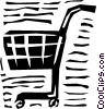 Vector Clip Art graphic  of a Shopping cart