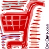 Vector Clipart illustration  of a Shopping cart
