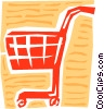 Vector Clipart picture  of a Shopping cart