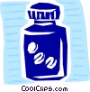 Vector Clipart graphic  of a Bottle of pills