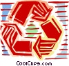 Recycle symbol Vector Clipart picture