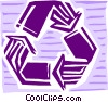 Vector Clipart graphic  of a Recycle symbol