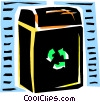 Vector Clip Art image  of a Recycle bin