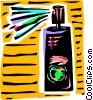 Vector Clipart illustration  of an Aerosol cleaner