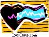 Vector Clipart image  of a Electro cardio gram