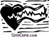 Vector Clip Art graphic  of a Electro cardio gram