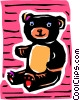Vector Clip Art image  of a Teddy bear