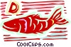 Swimming fish Vector Clipart graphic