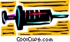 Vector Clipart graphic  of a Hypodermic needle