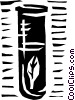Test tube with leaf Vector Clipart image