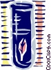 Vector Clipart picture  of a Test tube with leaf