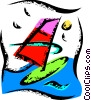 Windsurfer Vector Clip Art graphic