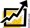 Vector Clip Art graphic  of a Chart with arrow