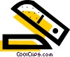 Opened stapler Vector Clip Art picture