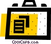 Vector Clip Art graphic  of a Briefcase