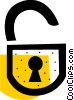 Opened lock Vector Clip Art picture