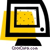 Computer monitor Vector Clipart graphic