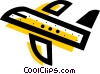 Vector Clipart graphic  of a Commercial airplane