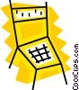 Kitchen chair Vector Clipart illustration